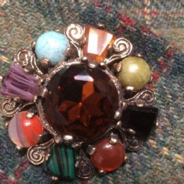 Vintage Signed Miracle Brooch - Traditional Celtic Design